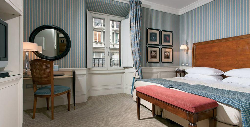 Whose decor recalls Rome's glamorous past (pictured: Superior Room)