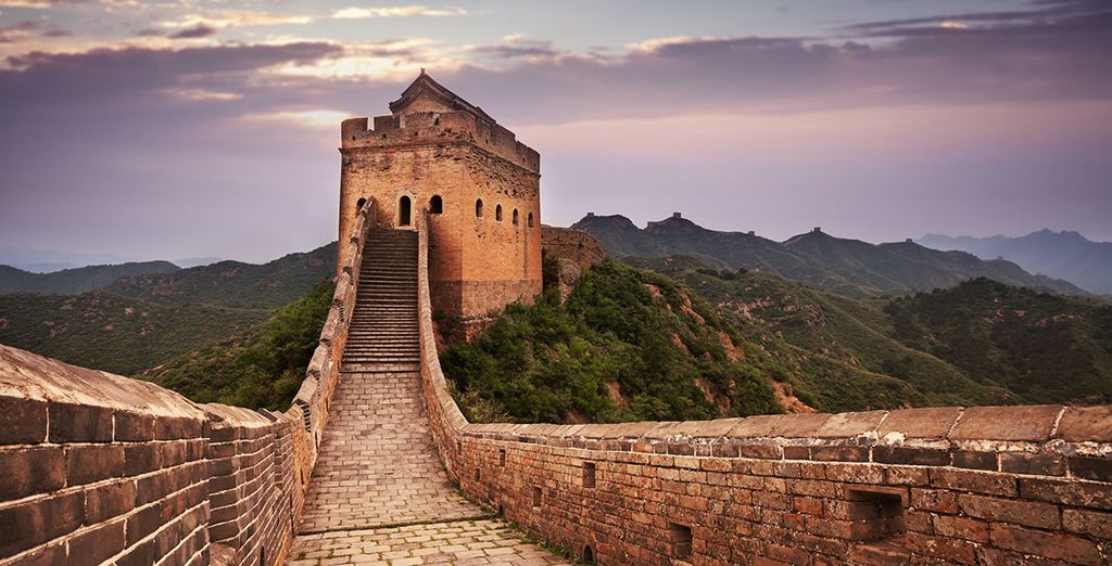 See spectacular sights such as the Great Wall of China