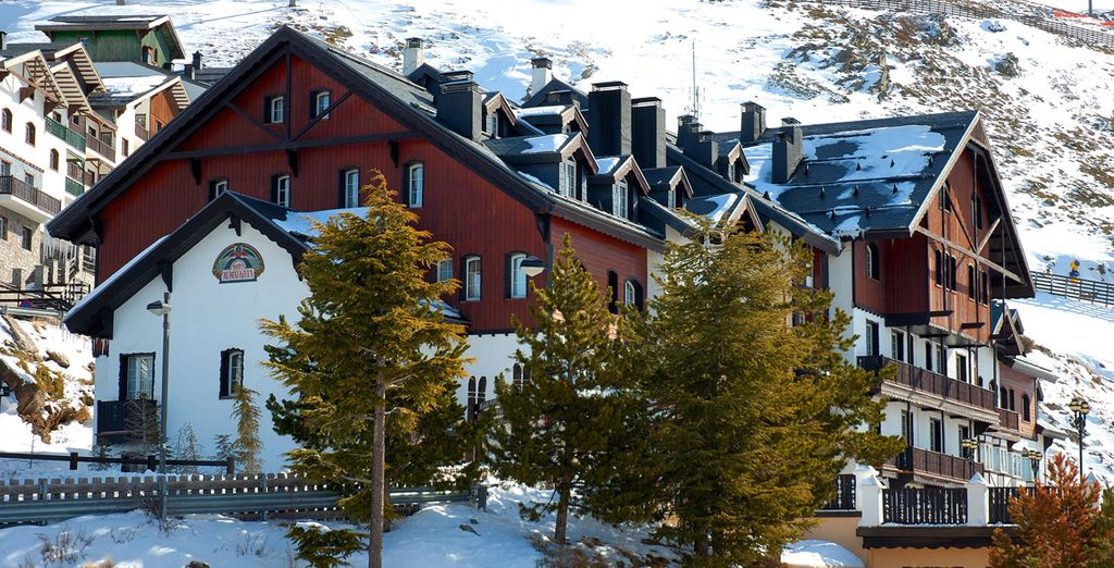 As one of the highest hotels in Europe