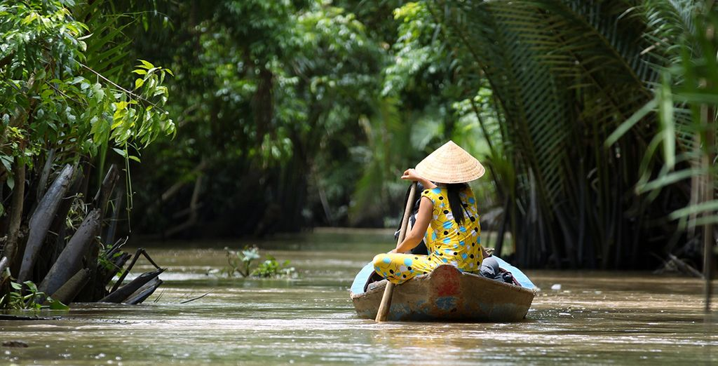 Here you may embark down the Mekong Delta