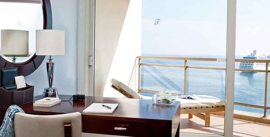 Or upgrade to a Premium Bedroom with Mediterranean view