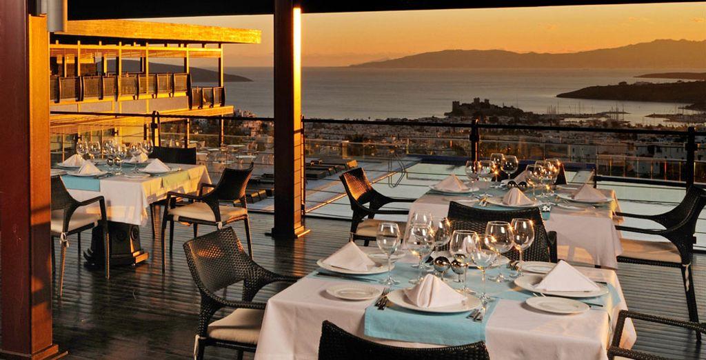 Enjoy dinner in one of the hotel's restaurants