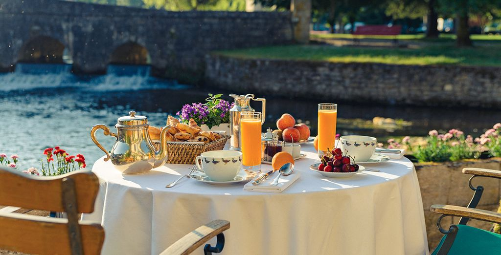 Enjoy breakfast on the terrace in the warmer months