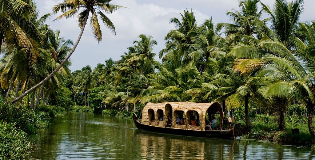 It includes a cruise through the tranquil backwaters