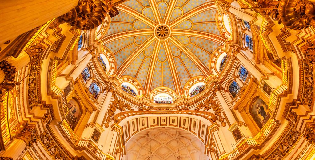 You are half a mile from Granada Cathedral, whose interiors are truly awe-inspiring