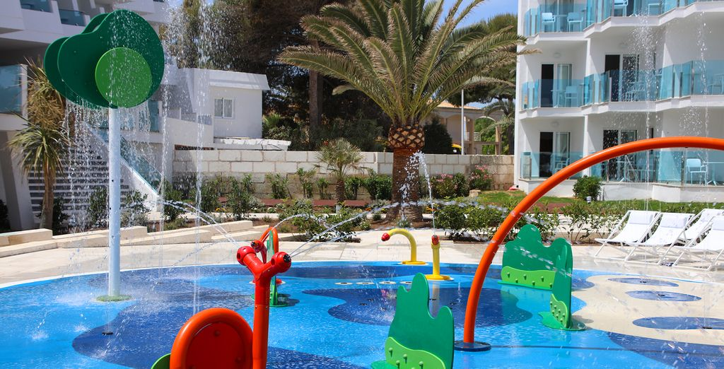 Swim in the pool - there's also a splash pool for children!