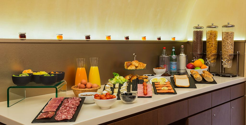 And choose from an extensive selection of food