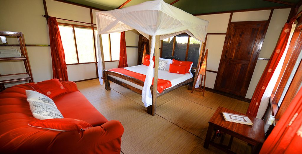 Stay in a traditional 'banda' facing the ocean