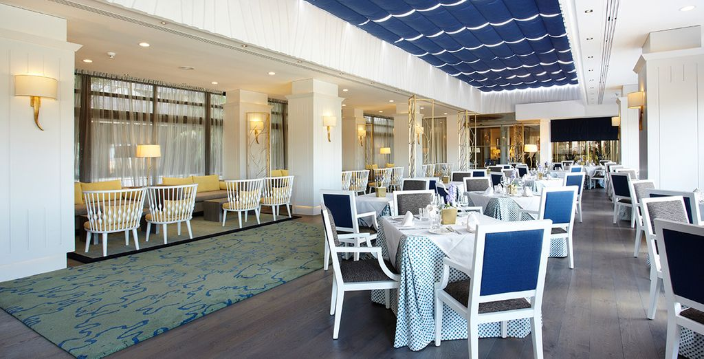 Dine well during your half board stay