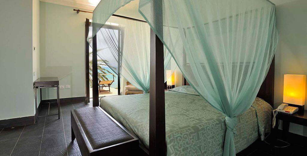 Revel in your sleek superior room