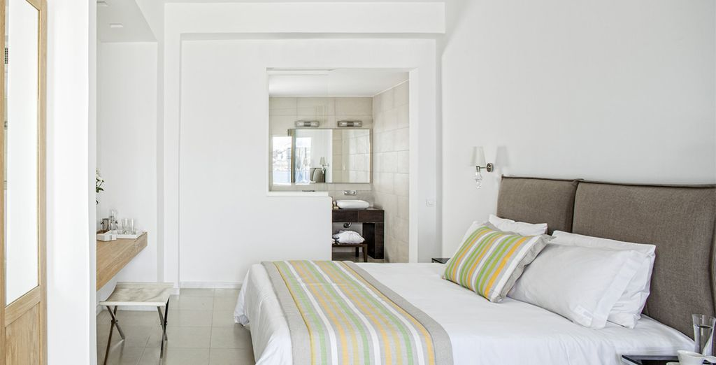 You may choose from a Sea View Suite...