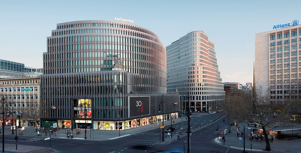 Experience the city in luxury by staying at the 5* Swissotel Berlin