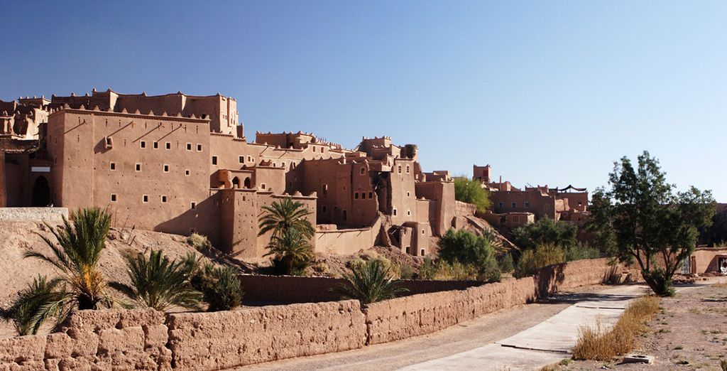 On to Ouarzazate, where you will visit the Taourirt Kasbah