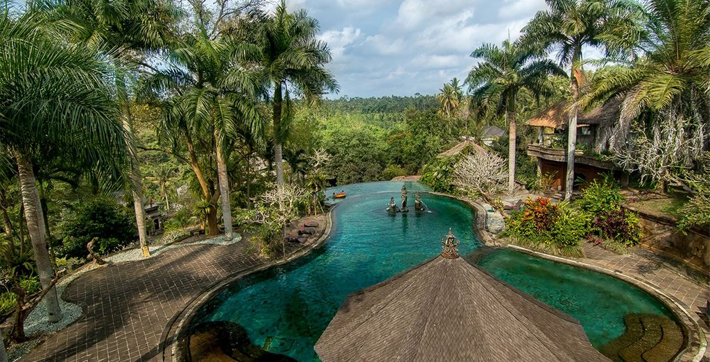 Your adventure begins in the heart of the Ubud jungle