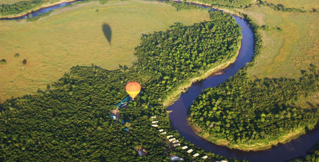 While here have the option to experience a spectacular hot air balloon flight over Masai Mara - a great 2 for 1 deal!