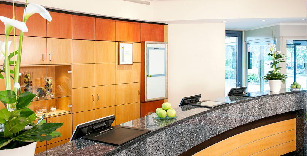 A modern, welcoming hotel
