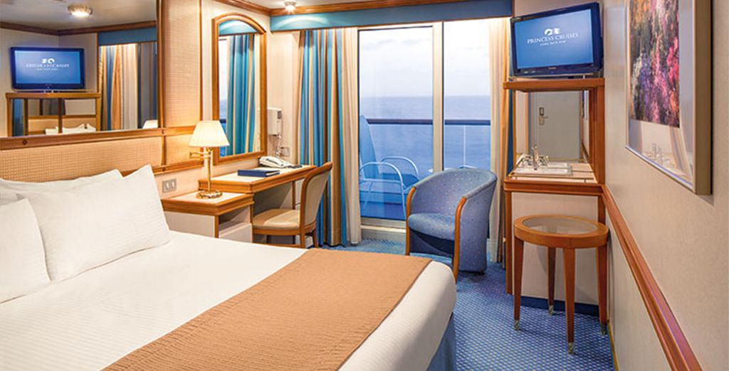 In a choice of spacious staterooms
