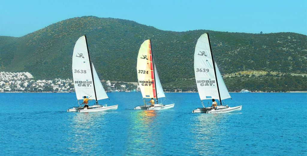 Thrill seekers will love the range of watersports on offer