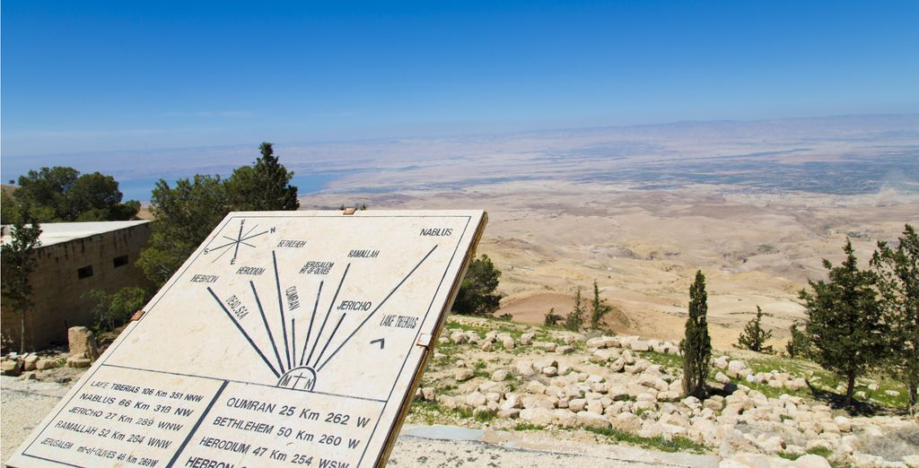 Marvel at Mt. Nebo, known as the burial place of Moses