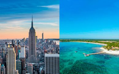 Wyndham New Yorker Hotel 4* y Barceló Maya Beach 5*