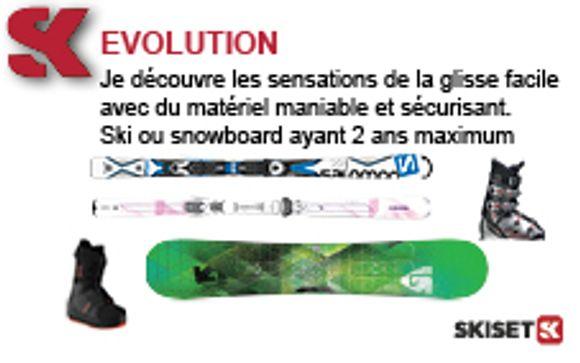 Details over het verhuur van skimateriaal