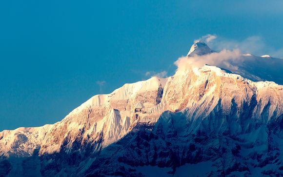 Über dem Himalaya