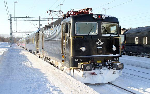 Nachtzug von Stockholm - Kiruna