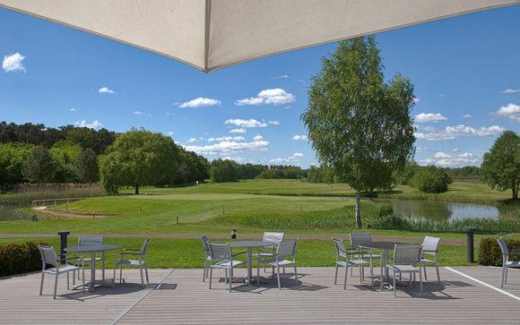 Schickes Hotel mit Golfplatz und Wellness