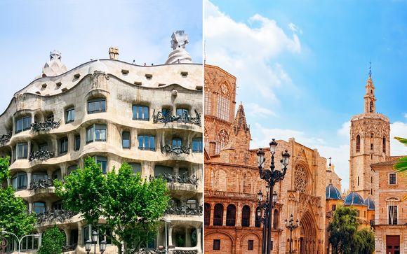 Barcelona, Valencia  y Costa Dorada en Fly and Drive