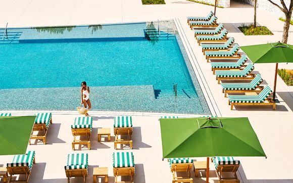 Ambiente mediterráneo con acceso al spa