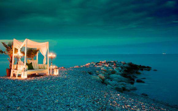 Frente al Egeo, vistas al monte Olimpo y media pensión