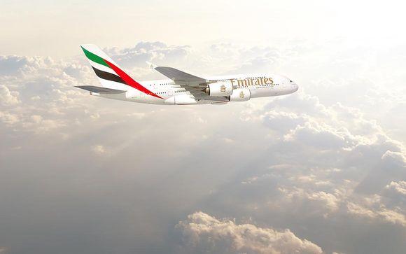 Offrez-vous le luxe de la classe affaires avec Emirates en option, avec supplément