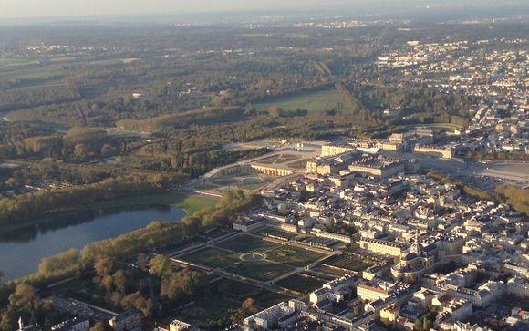 Option vol en hélicoptère : Paris - Versailles