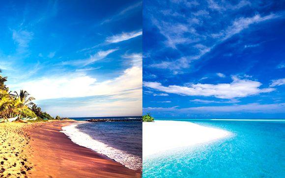 Nature sauvage et sable blanc