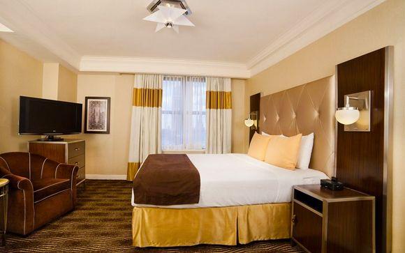 Hôtel de luxe avec lit double tout confort au centre de New York