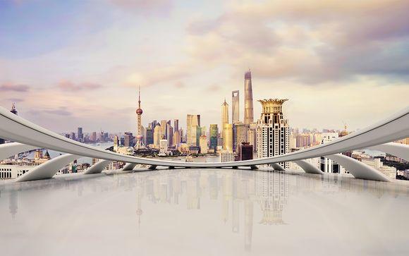 Fotografia della metropoli di Shanghai in Cina