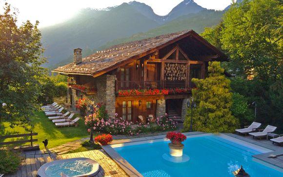 Lo charme del Monte Bianco in 5* con spa e mezza pensione