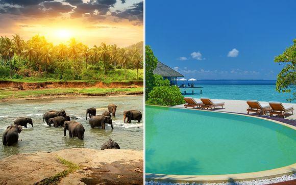 Tour privato dello Sri Lanka e soggiorno alle Maldive Adaaran Select Meedhupparu 4*
