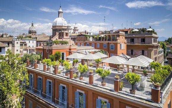 Hotel 4* con terrazza panoramica vicino a Campo de' Fiori