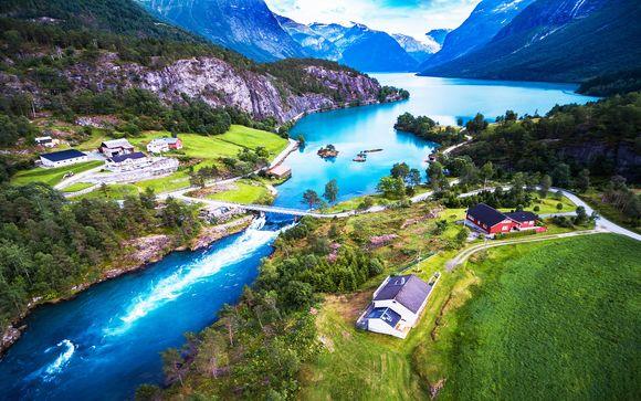 Tour dei Fiordi con escursione sul treno panoramico di Flåm