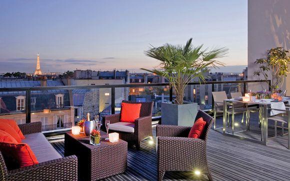 Suggestivo boutique hotel 4* vicino al Parc Monceau