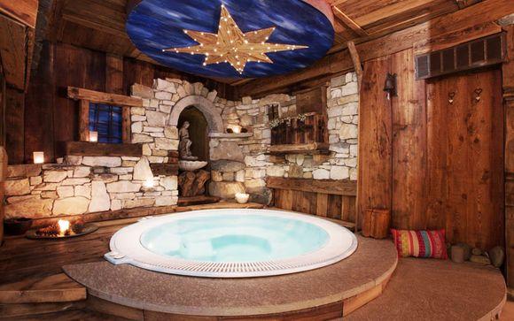 Hotel con spa in stile alpino tra il monte Cervino e il Lac Bleu