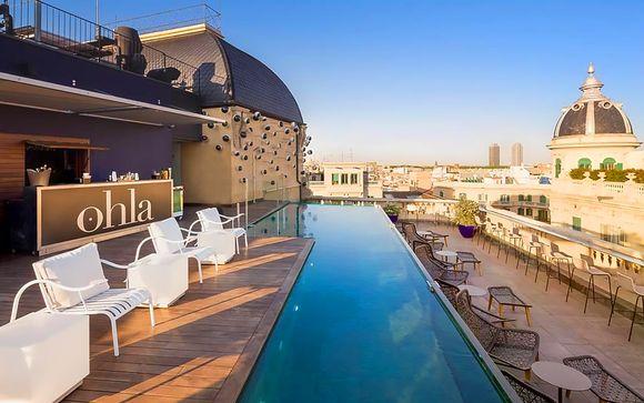 Moderno 5* con piscina panoramica e ristorante stellato