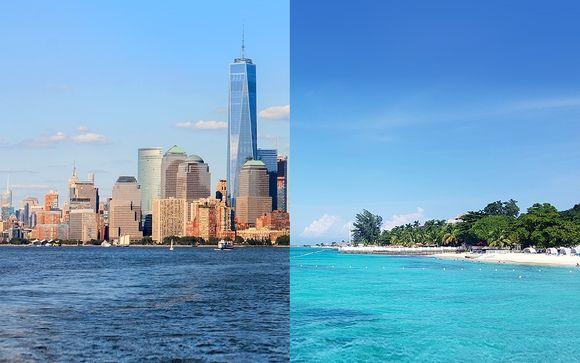 Dai grattacieli moderni di New York al relax del Mar dei Caraibi