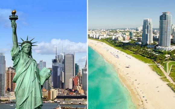 Il fascino degli States: lo skyline di NYC e le spiagge di Miami