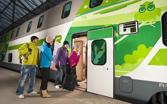VR Night Train from Helsinki to Kemi, Private Compartment, 1 night