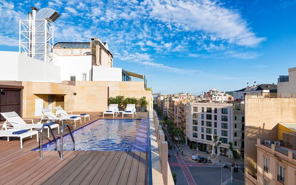 Contemporary Art-Themed Hotel in Eixample District