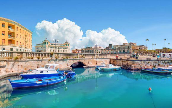 Suggestivo hotel 4* nel centro storico di Ortigia
