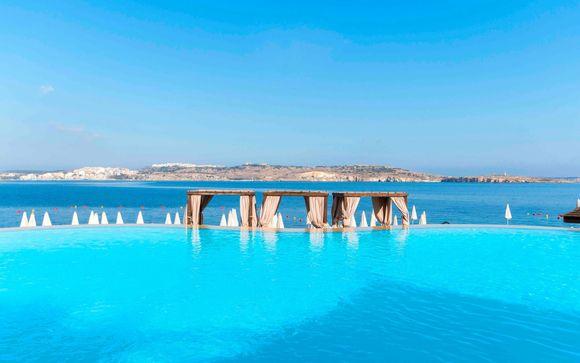 Hotel chic con vista sul mare sulle rive della baia di St Paul